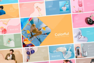 Print on Demand: Colorful - PowerPoint Template Graphic Presentation Templates By Graphicxell