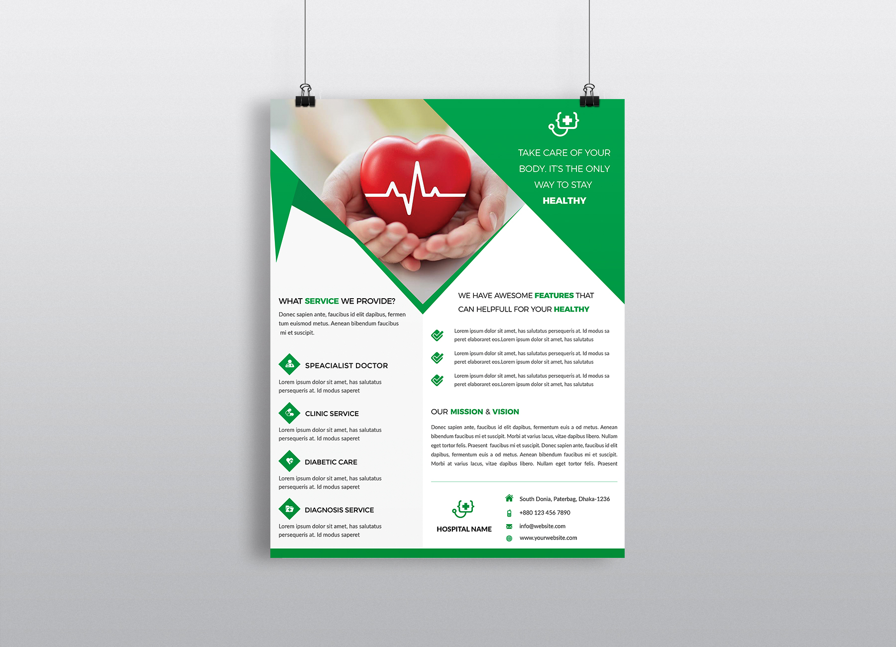 Download Free Corporate Business Flyer Template Vol 22 Graphic By Imagine for Cricut Explore, Silhouette and other cutting machines.
