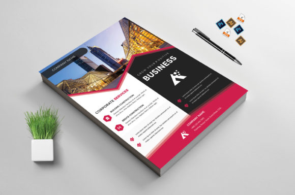 Download Free Corporate Business Flyer Template Vol 34 Graphic By Imagine for Cricut Explore, Silhouette and other cutting machines.