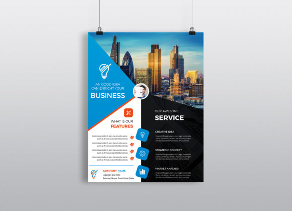 Download Free Corporate Business Flyer Template Vol 19 Graphic By Imagine for Cricut Explore, Silhouette and other cutting machines.