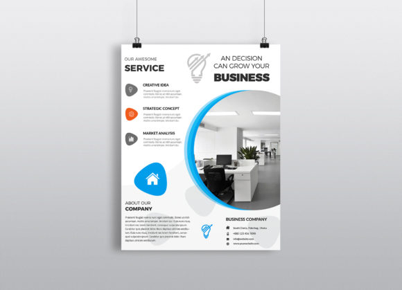 Download Free Corporate Business Flyer Template Vol 14 Graphic By Imagine for Cricut Explore, Silhouette and other cutting machines.