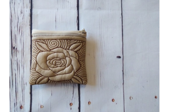 Cosmetic Bag - Rose Embroidery Item