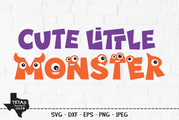 Download Free Cute Little Monster Halloween Design Graphic By for Cricut Explore, Silhouette and other cutting machines.