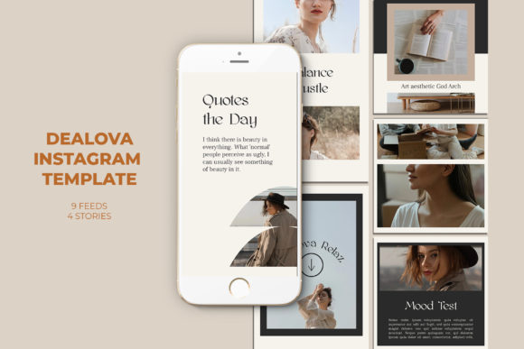 Dealova Instagram Templates Graphic Web Elements By qohhaarqhaz