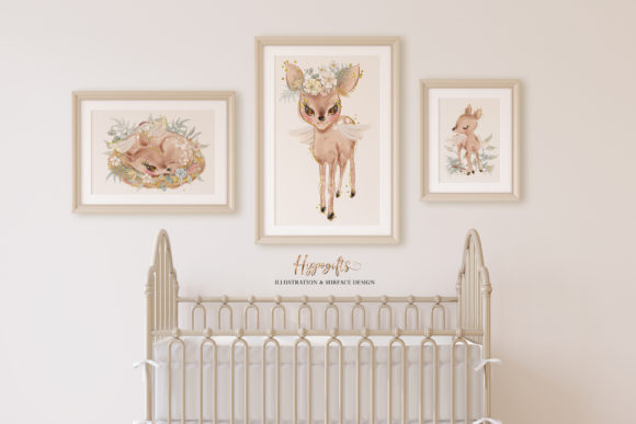 Deer Watercolor Clip Arts Graphic Illustrations By Hippogifts - Image 6