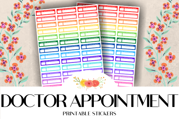 Download Free Doctor Appointment Printable Stickers Graphic By Atlasart for Cricut Explore, Silhouette and other cutting machines.
