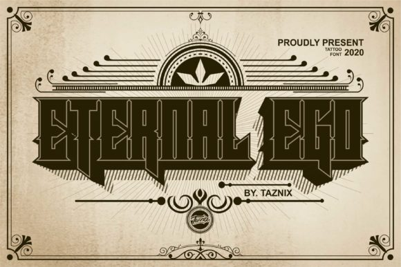 Download Free Eternal Ego Font By Taznixart Creative Fabrica for Cricut Explore, Silhouette and other cutting machines.