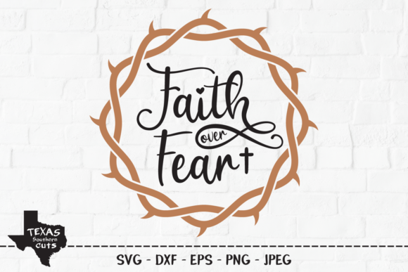 Download Free Faith Over Fear Christian Shirt Design Graphic By for Cricut Explore, Silhouette and other cutting machines.