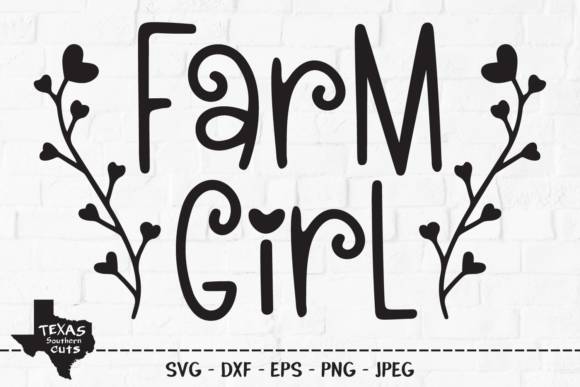 Download Free 4 Farm Girl Svg Designs Graphics for Cricut Explore, Silhouette and other cutting machines.