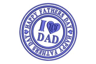 Father's Day: I Love U Dad Father's Day Embroidery Design By BabyNucci Embroidery Designs