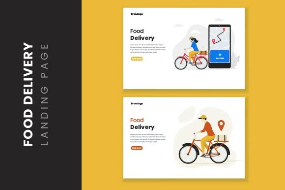 Download Free Food Delivery Illustration Concept Graphic By H12 Creative Fabrica for Cricut Explore, Silhouette and other cutting machines.