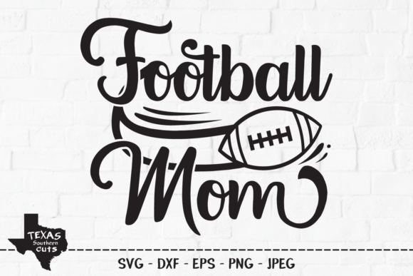 Download Free Football Mom Football Shirt Design Graphic By Texassoutherncuts Creative Fabrica for Cricut Explore, Silhouette and other cutting machines.