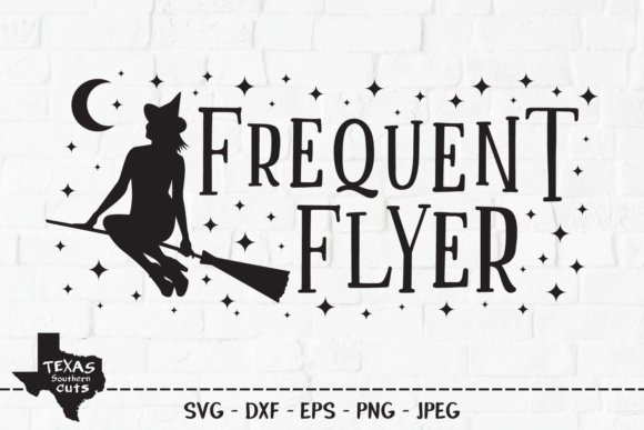 Download Free Frequent Flyer Halloween Shirt Design Graphic By for Cricut Explore, Silhouette and other cutting machines.