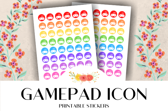 Download Free Gamepad Icon Printable Stickers Graphic By Atlasart Creative for Cricut Explore, Silhouette and other cutting machines.