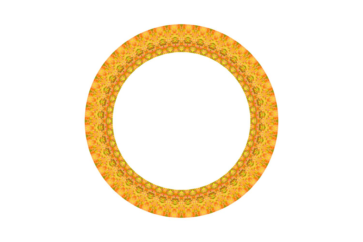 Download Free Geometrical Isolated Mosaic Round Border Graphic By Davidzydd for Cricut Explore, Silhouette and other cutting machines.