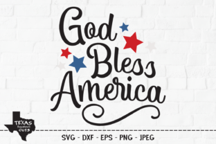 Download Free God Bless America Patriotic Design Graphic By for Cricut Explore, Silhouette and other cutting machines.