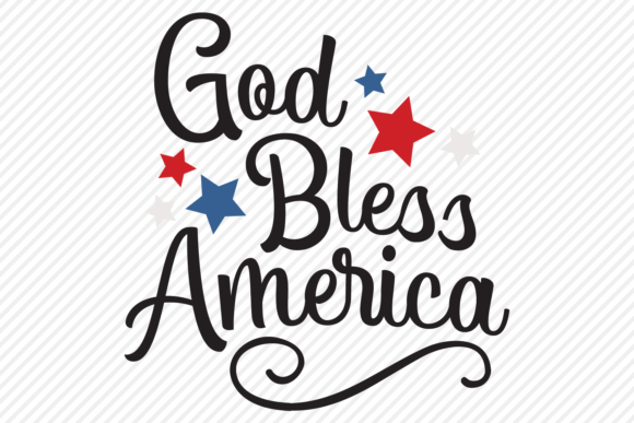 Download Free God Bless America Patriotic Design Graphic By SVG Cut Files
