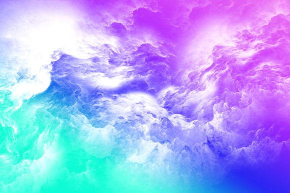 Print on Demand: Gradient Ombre Clouds Sky Background Graphic Backgrounds By AM Digital Designs