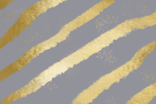 Print on Demand: Gray Gold Striped Metallic Background Graphic Backgrounds By AM Digital Designs