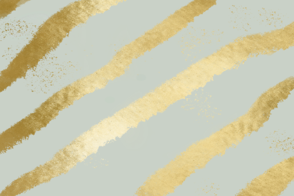 Print on Demand: Grayish Green & Gold Striped Background Graphic Backgrounds By AM Digital Designs