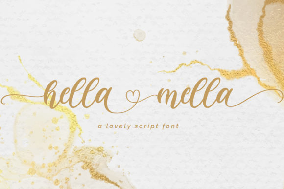 Print on Demand: Hella Mella Script & Handwritten Font By Fallengraphic