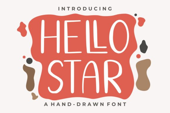 Download Free Hello Star Font By Goodjavastudio Creative Fabrica for Cricut Explore, Silhouette and other cutting machines.