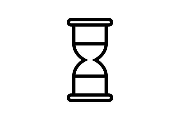 Download Free Hourglass Black And White Line Icon Graphic By Muhammadfaisal40 for Cricut Explore, Silhouette and other cutting machines.