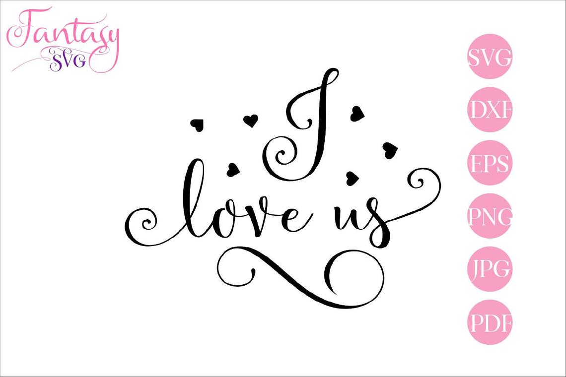 Download Free I Love Us Graphic By Fantasy Svg Creative Fabrica for Cricut Explore, Silhouette and other cutting machines.