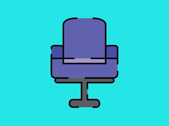 Download Free Icon Director Chair Striped Line Graphic By Meandmydate for Cricut Explore, Silhouette and other cutting machines.