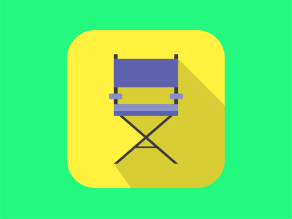 Download Free Icon Director Film Chair Modern Graphic By Meandmydate for Cricut Explore, Silhouette and other cutting machines.