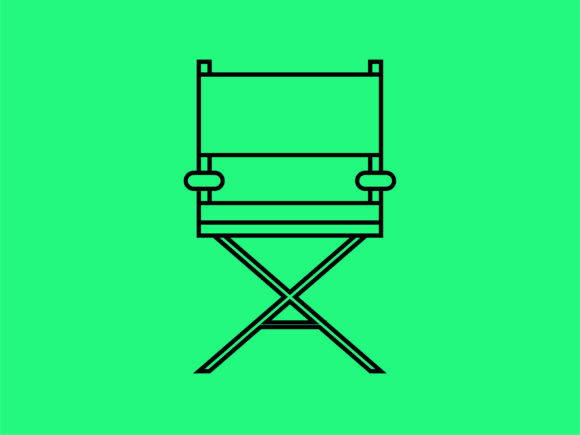 Download Free Icon Film Director Chair Outline Graphic By Meandmydate for Cricut Explore, Silhouette and other cutting machines.