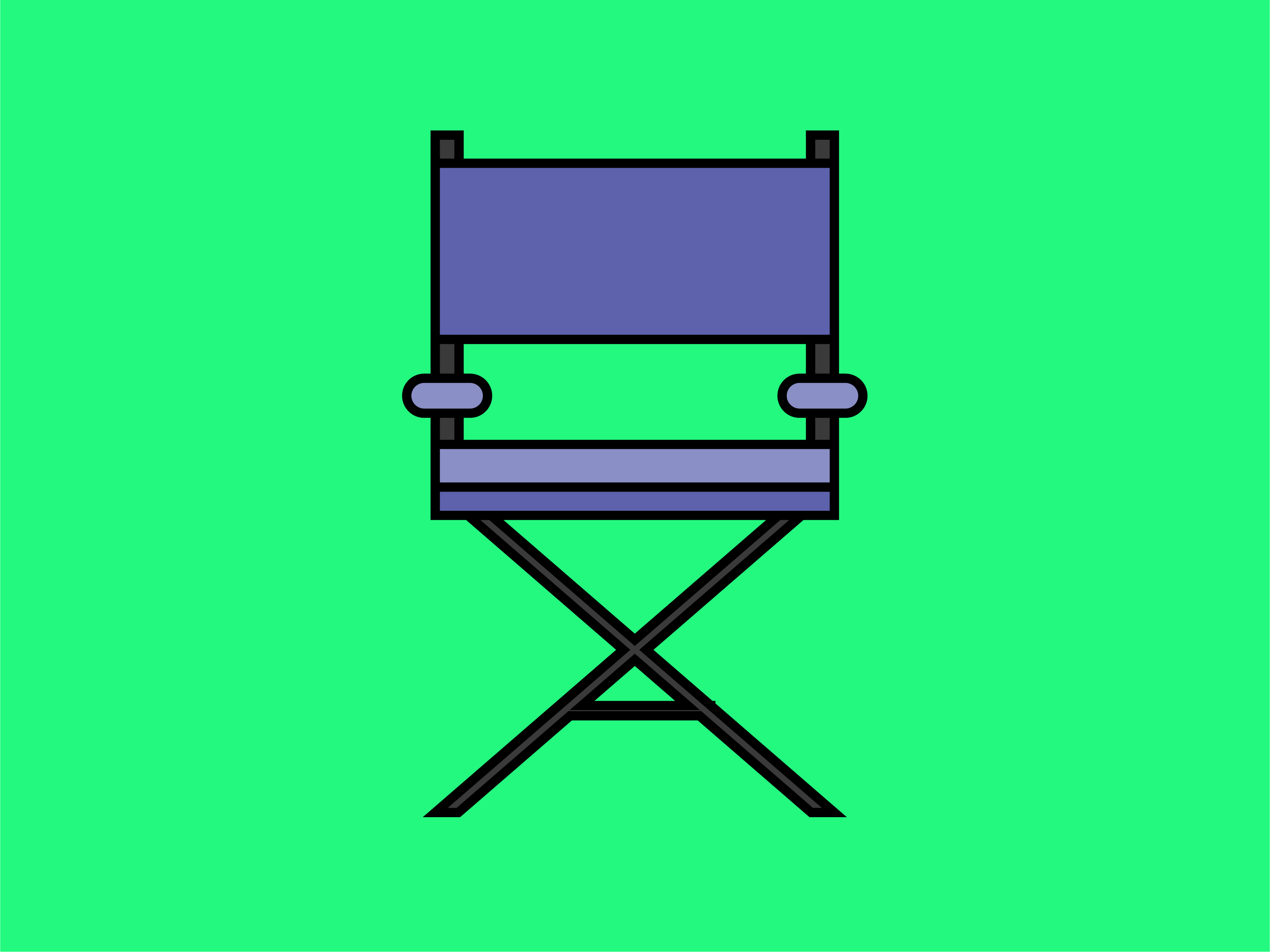 Download Free Icon Producer Director Chair Graphic By Meandmydate Creative for Cricut Explore, Silhouette and other cutting machines.