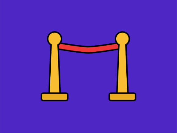 Print on Demand: Icon Queue Pole Simple Graphic Icons By meandmydate