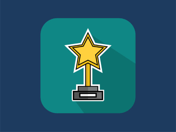 Download Free Icon Star Trophy Film Graphic By Meandmydate Creative Fabrica for Cricut Explore, Silhouette and other cutting machines.