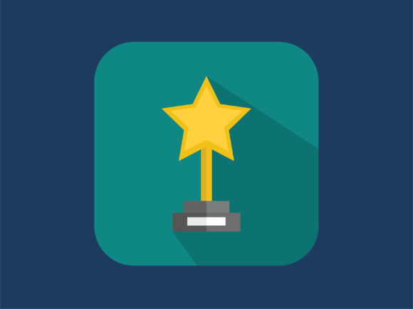 Download Free Icon Star Trophy Modern Graphic By Meandmydate Creative Fabrica for Cricut Explore, Silhouette and other cutting machines.