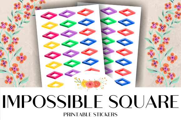 Download Free Impossible Square Printable Stickers Graphic By Atlasart for Cricut Explore, Silhouette and other cutting machines.
