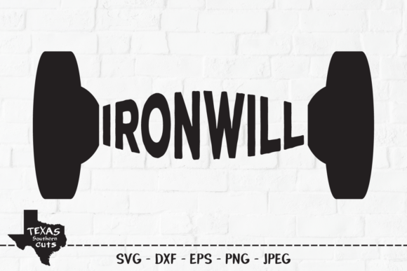 Download Free Iron Will Workout Shirt Design Graphic By Texassoutherncuts for Cricut Explore, Silhouette and other cutting machines.