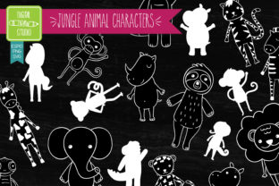 Download Free Jungle Animal Hand Drawn Character White Graphic By for Cricut Explore, Silhouette and other cutting machines.