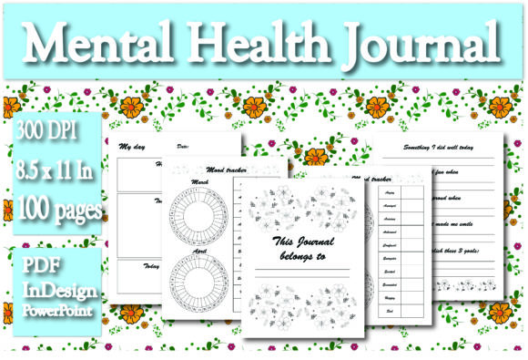 Print on Demand: KDP Interior Mental Health Journal Grafik KPD Innenseiten von Ivana Prue