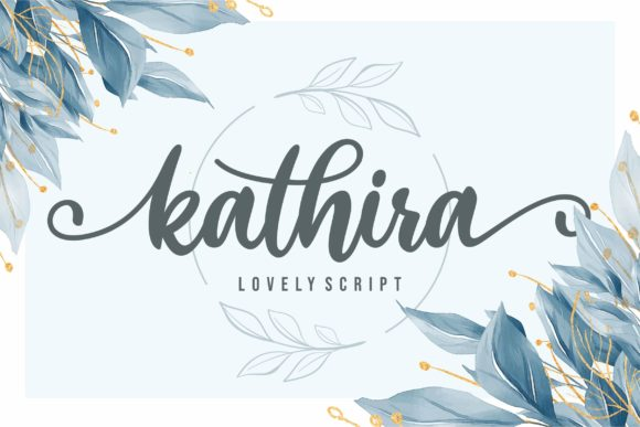 Print on Demand: Kathira Script & Handwritten Font By awansenja.type