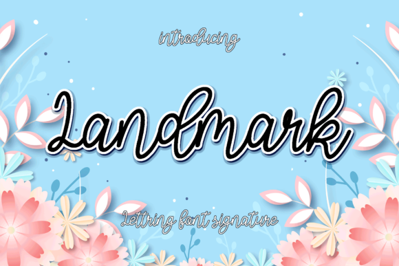 Print on Demand: Landmark Script & Handwritten Font By MYdesign