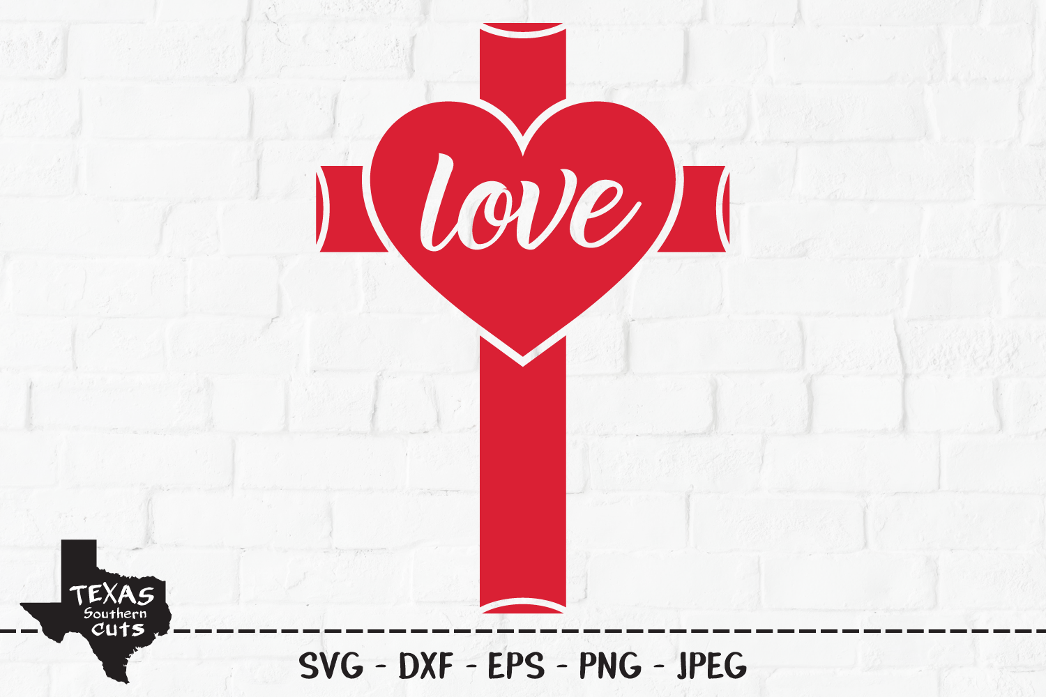 Download Free Love Cross Christian Shirt Design Graphic By Texassoutherncuts for Cricut Explore, Silhouette and other cutting machines.