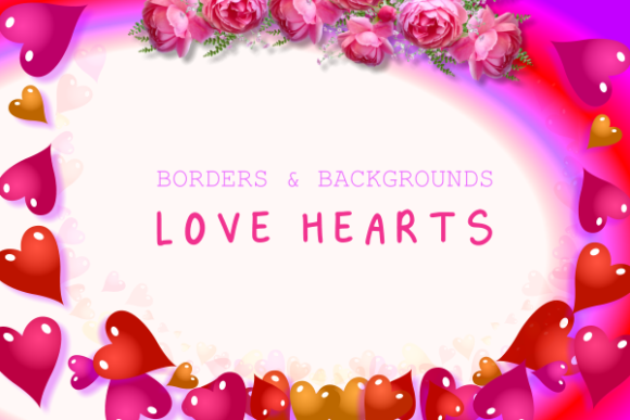 Download Free Love Heart Borders Backgrounds Graphic By Prawny Creative for Cricut Explore, Silhouette and other cutting machines.