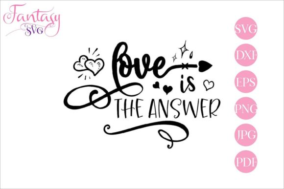 Download Free Love Is The Answer Grafik Von Fantasy Svg Creative Fabrica for Cricut Explore, Silhouette and other cutting machines.
