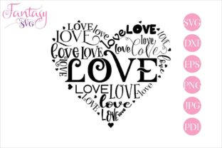 Download Free Love Word Art Graphic By Fantasy Svg Creative Fabrica for Cricut Explore, Silhouette and other cutting machines.