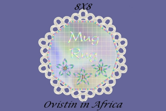 Lovely FSL Mug Rug Sewing & Crafts Embroidery Design By Ovistin in Africa