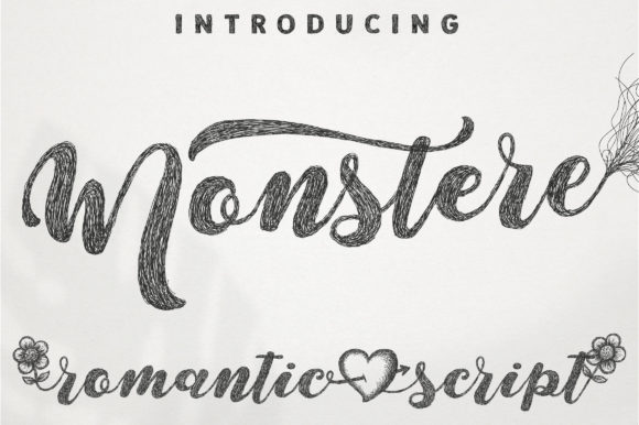 Print on Demand: Monstere Script & Handwritten Font By Royaltype