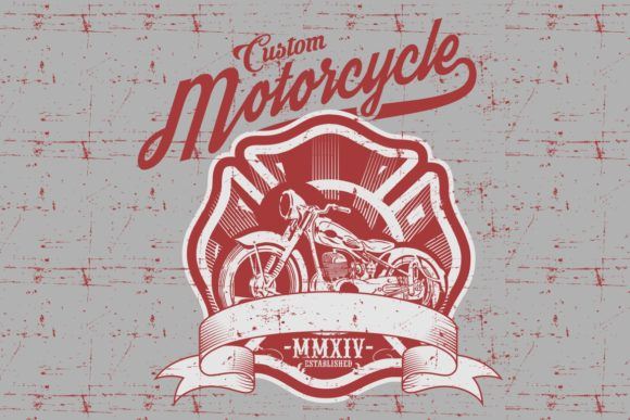 Motorcycle Side View Hand Drawn Graphic Illustrations By Epic.Graphic