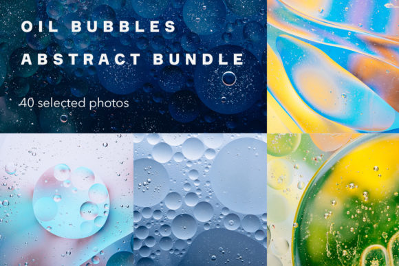 Print on Demand: Oil Bubbles Abstract Bundle, 40 Photos Graphic Abstract By frostroomhead