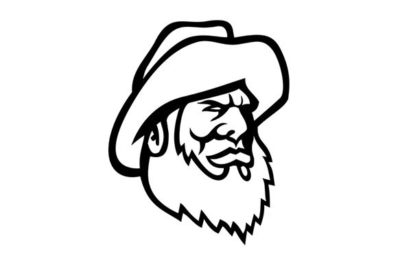 Download Free Old Fisherman Or Fisher Wearing Bucket Graphic By Patrimonio for Cricut Explore, Silhouette and other cutting machines.